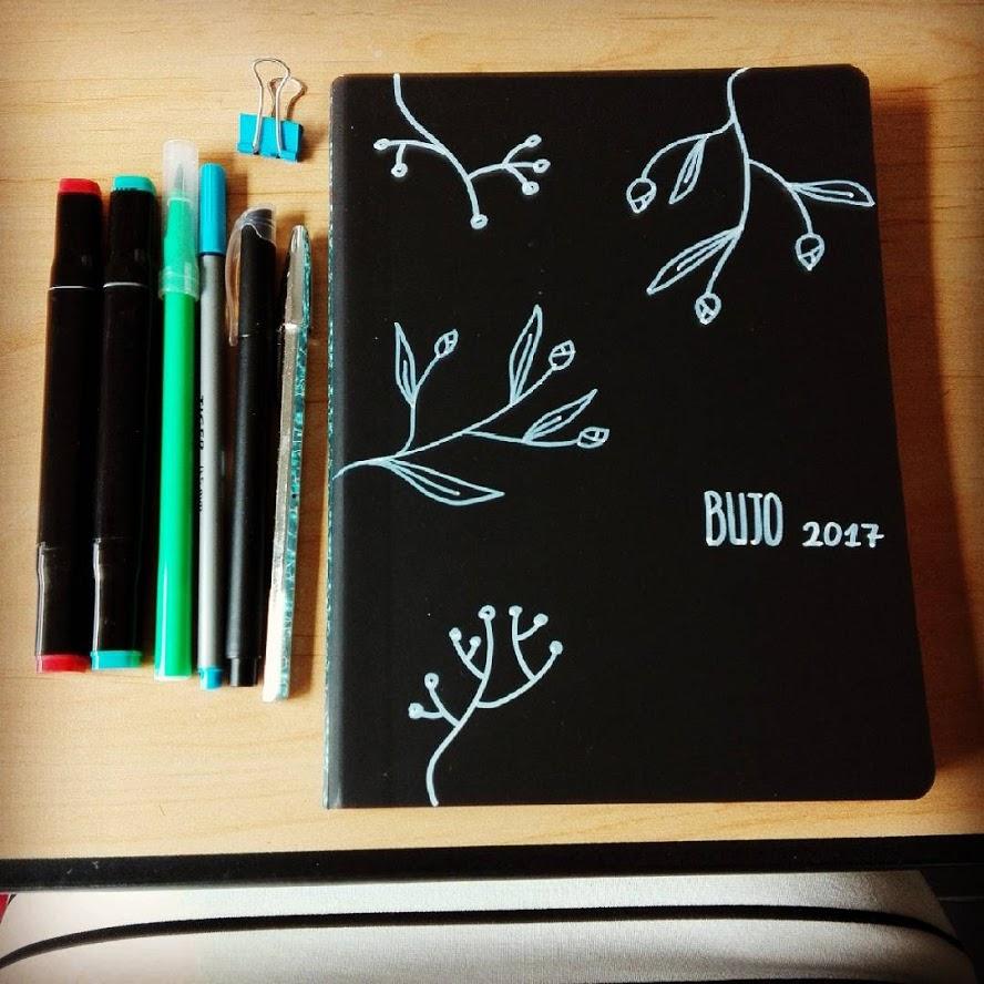 Bullet journal nummer 2. zelf versierd. Nog steeds heel blij mee!